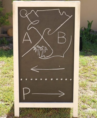 Anouk & Bert Wedding personalized chalkboard