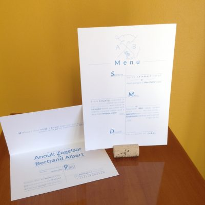 Menu and Invitation Wedding Anouk & Bert