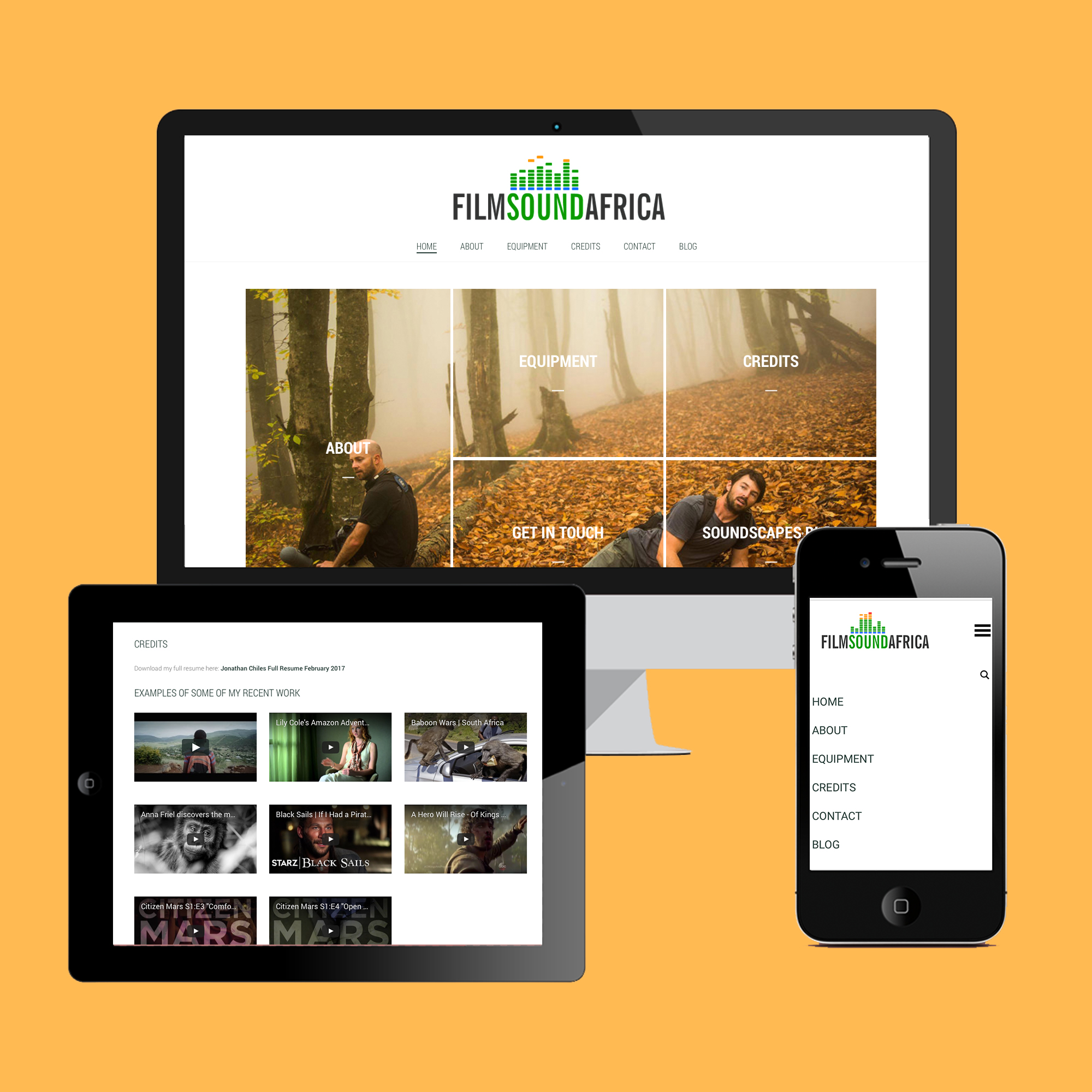 Webdesign, Bee-Orginal, Logo, Branding, Film Sound Africa